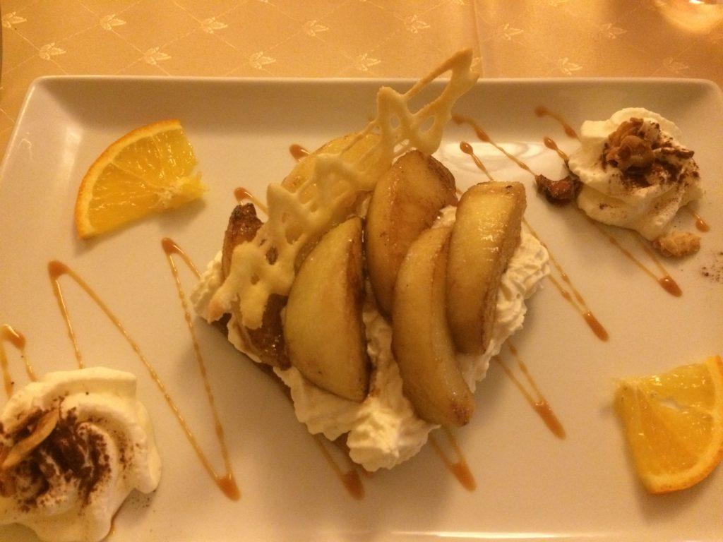 Sablé aux pommes et sa crème Royal Combier