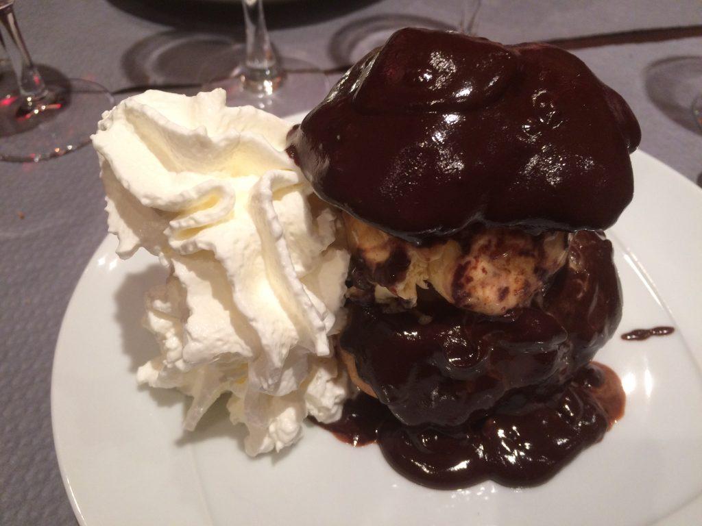 Profiterole ganache chocolat maison